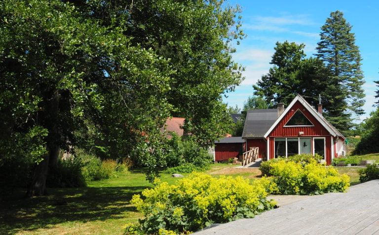 rött hus pallkragar Gringelstad